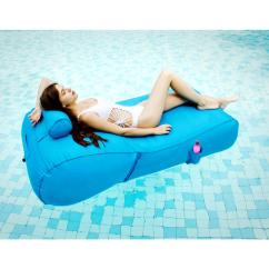 Chair Pool Floats Glider Covers Supplies The Home Depot Aqua Blue Float Sun Lounger