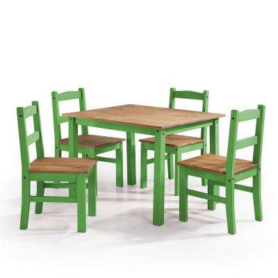 green dining room chairs chair gym ebay kitchen furniture the home depot york 5 piece wash solid wood