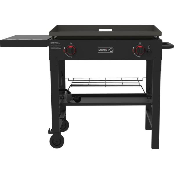 Nexgrill 2-burner Propane Gas Grill In Black With Griddle Top-720-0785 - Home Depot