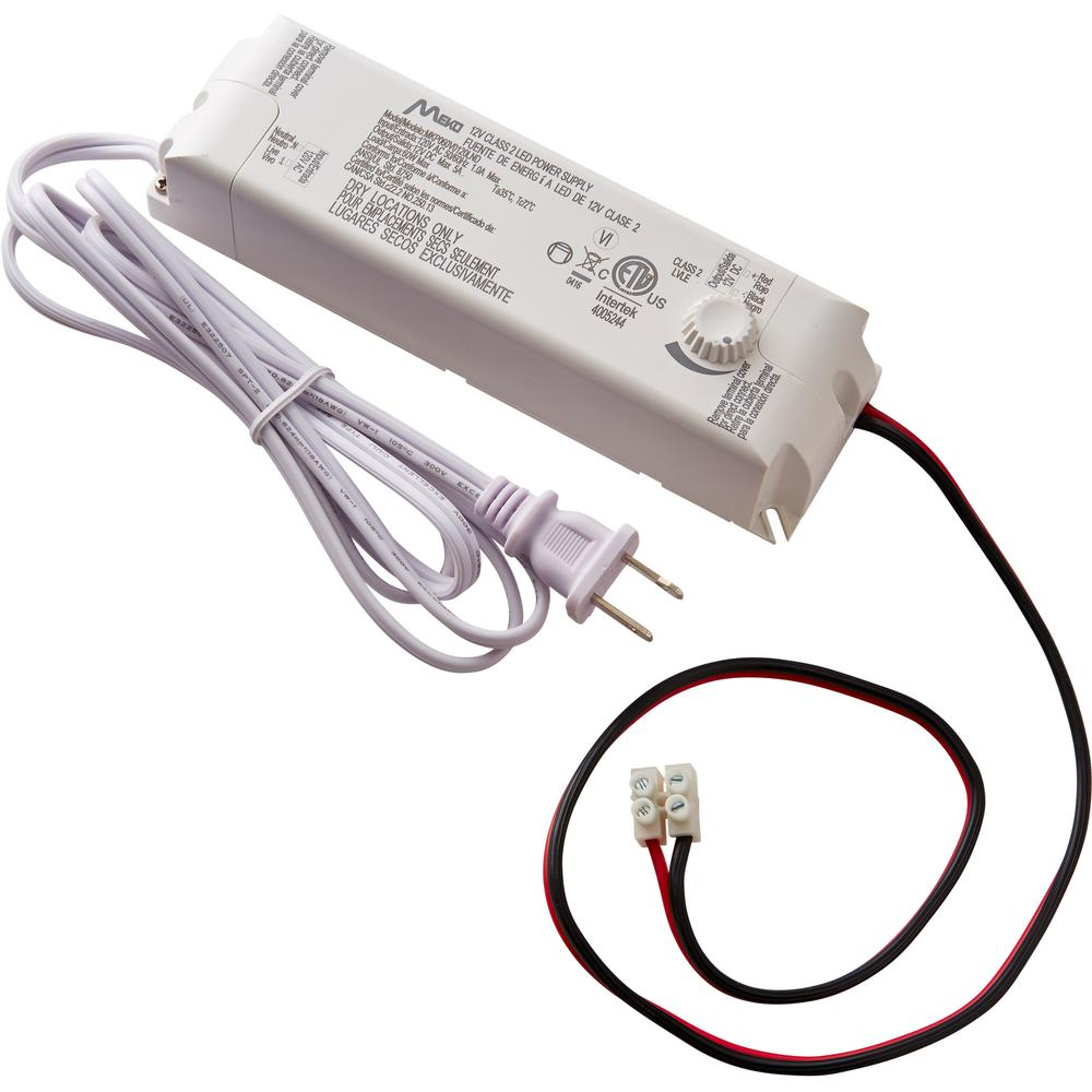 medium resolution of commercial electric 60 watt 12 volt led lighting power supply with dimmer