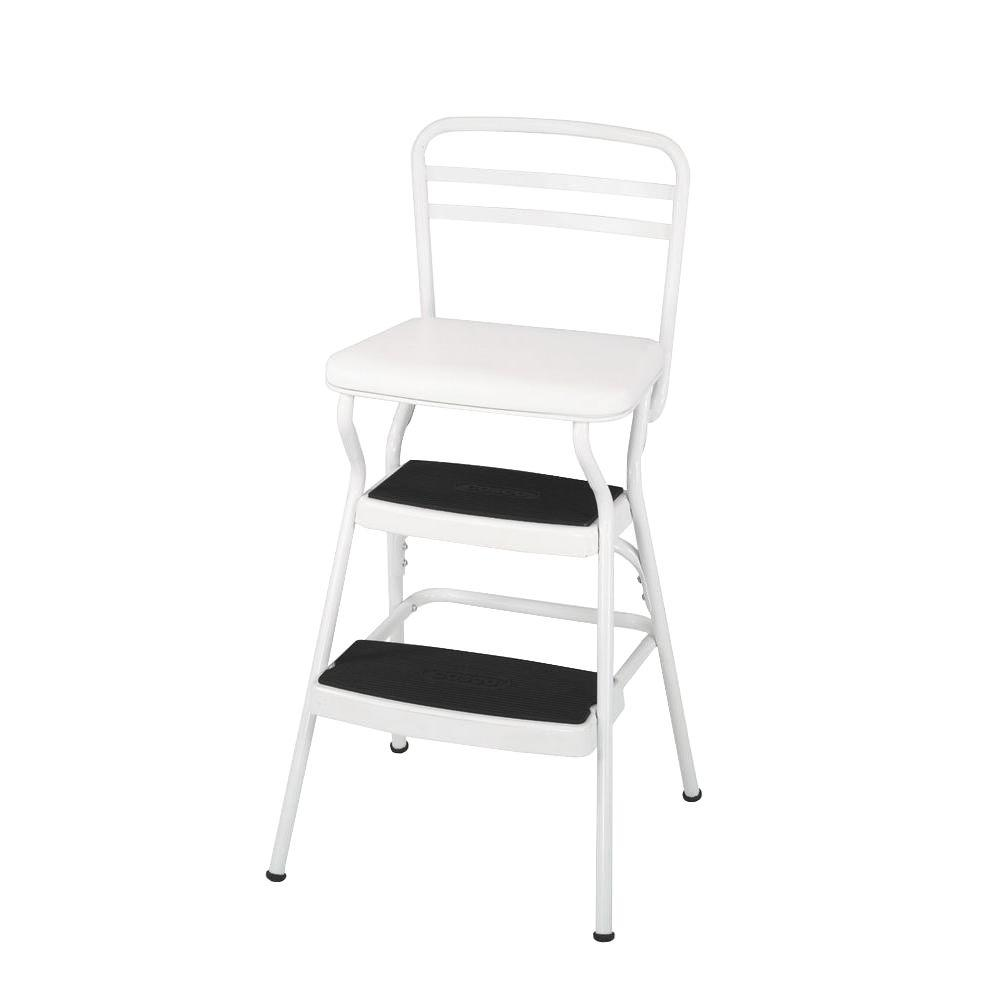 retro chair stool nursery recliner australia cosco 225 lb white not rated step 11130whte the home