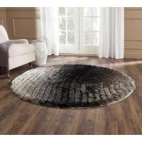 Safavieh 3D Shag Silver 6 ft. x 6 ft. Round Area Rug ...