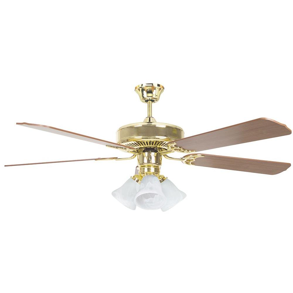 Hampton Bay Sussex II 52 in Indoor Brushed Nickel Ceiling Fan with Light Kit and Remote Control