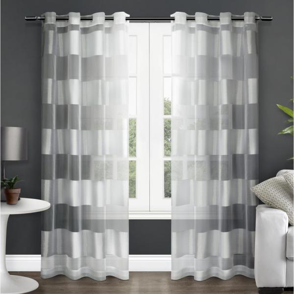 Navaro 54 In. X 96 L Sheer Grommet Top Curtain Panel
