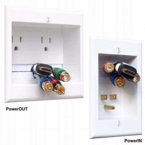 small resolution of powerbridge in wall dual power and cable management kit for wall mounted hdtv two ck the home depot