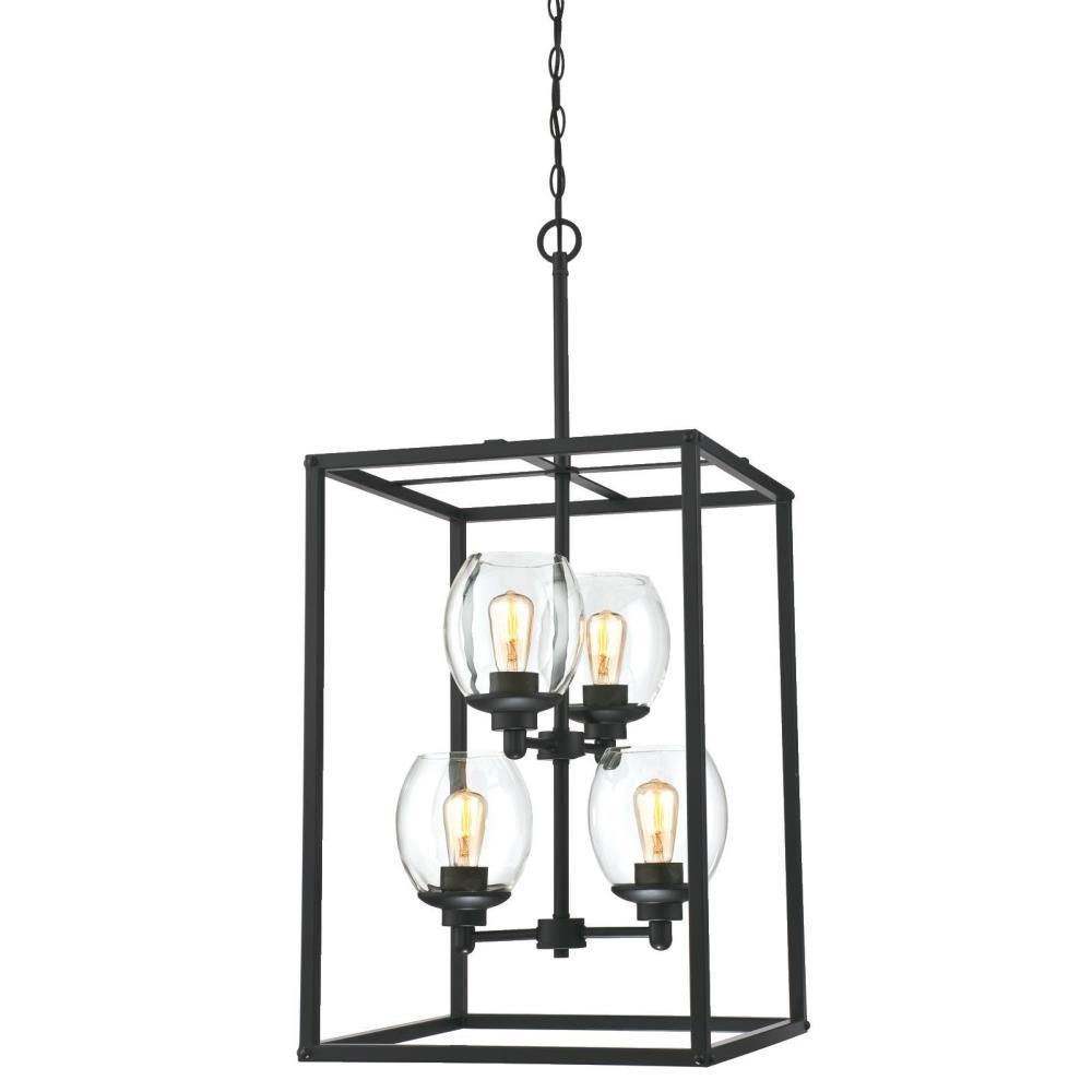 Westinghouse Ardleigh 4-Light Matte Black Chandelier with