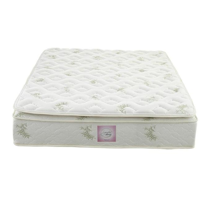 Signature Sleep Oasis King Size 13 In Independently Encased Coil Pillow Top Mattress With Certipur