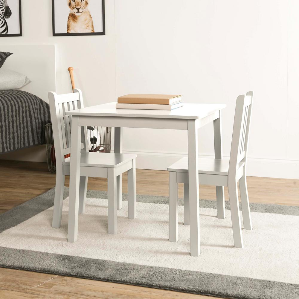 Kids Wood Table And Chairs Tot Tutors Daylight 3 Piece Off White Kids Table And Chair Set