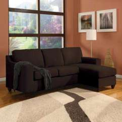 Acme Sectional Sofa Chocolate Sunroom Bed Furniture Vogue Micro Fiber 05907 The Home Depot
