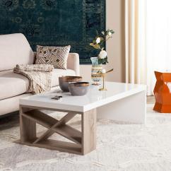 White Living Room Side Table Theater Ideas Safavieh Carlton Modern Scandinavian Storage Lacquer Coffee