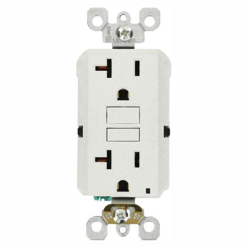 small resolution of leviton 20 amp self test smartlockpro slim duplex gfci outlet white ground fault receptacle wiring single pole switch and a a