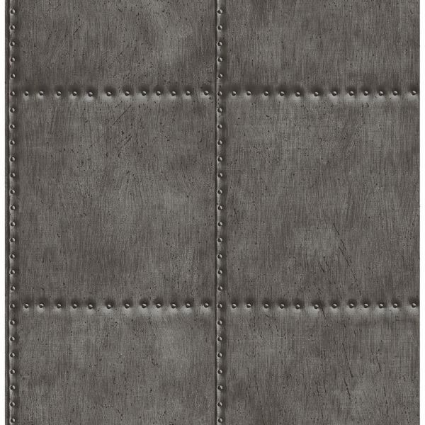 Brewster Charcoal Sheet Metal Rivets Wallpaper270122342