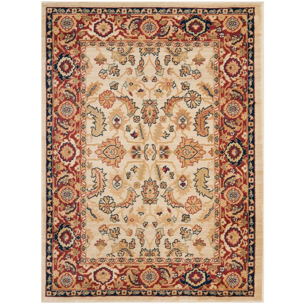 Safavieh Austin CreamRed 4 Ft X 5 Ft 7 In Area Rug AUS1600 1140 4 The Home Depot