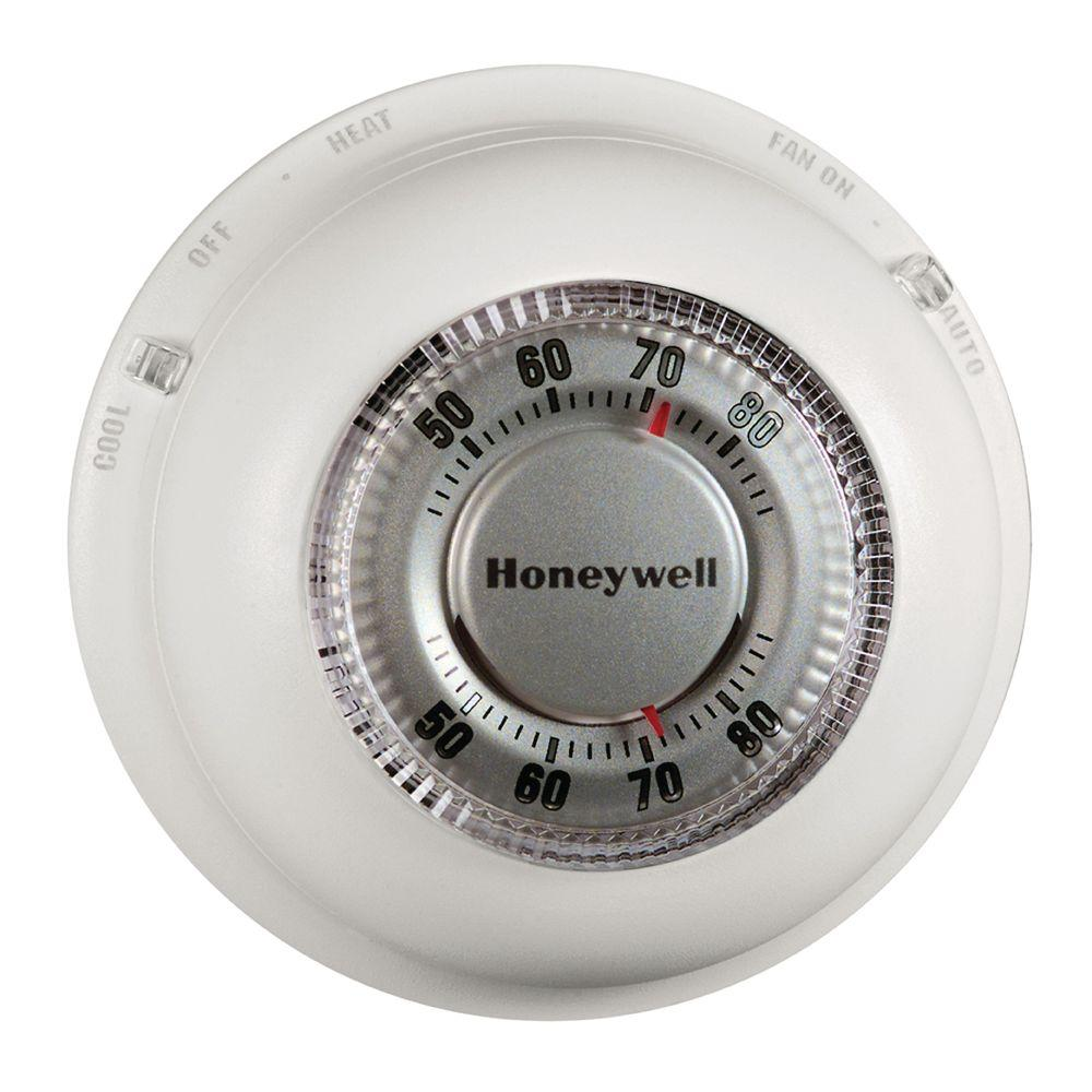 hight resolution of round heat cool thermostat