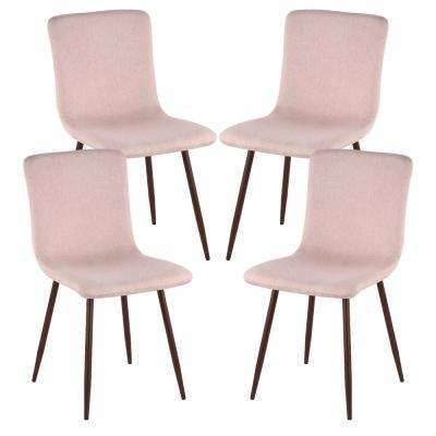 pink dining room chairs chair cover rentals dallas texas kitchen furniture the home depot wadsworth with walnut legs in set of 4