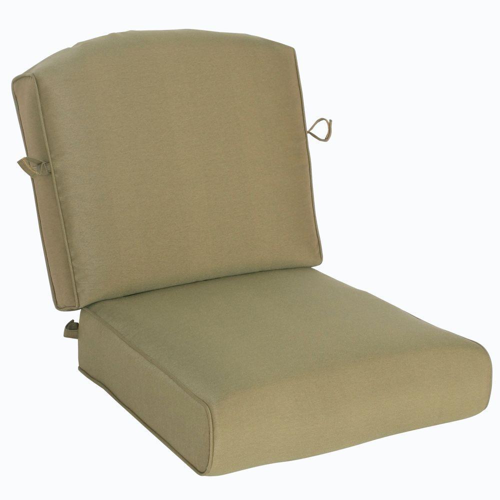 Hampton Bay Edington Celery Green Replacement Outdoor Lounge Chair Cushion