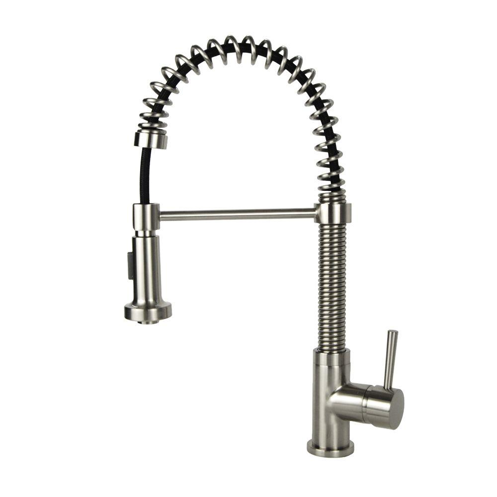 faucet kitchen island table for single handle pull down sprayer in brushed nickel n88503b2 bn the home depot