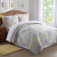 Antique Lace Chevron Gray and Yellow 3