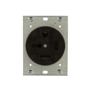 Eaton 50 Amp 250Volt 1550 3Pole4Wire Power Receptacle8450N  The Home Depot