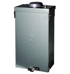 square d qo 100 amp 2 pole outdoor circuit breaker enclosure with qo2100 breaker included [ 1000 x 1000 Pixel ]