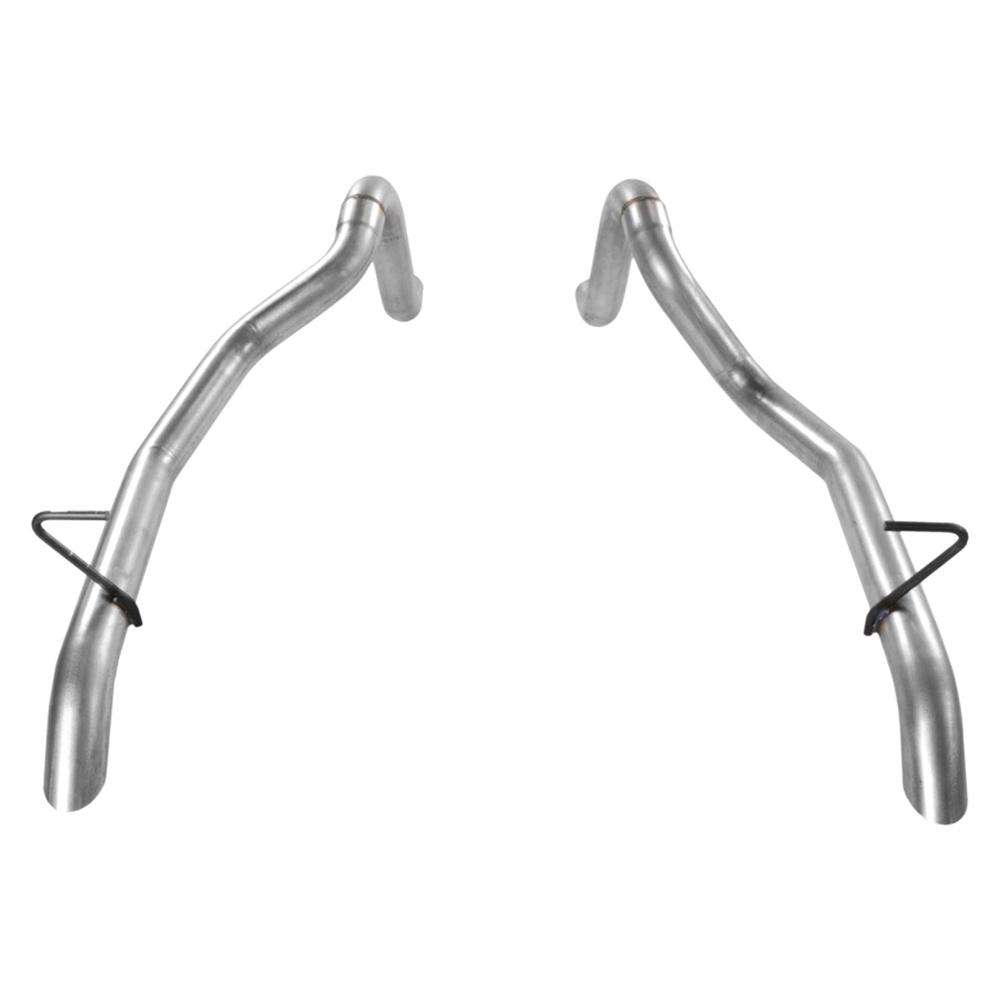 medium resolution of 87 93 mustang gt prebent tailpipes 2 50 in rear exit pair