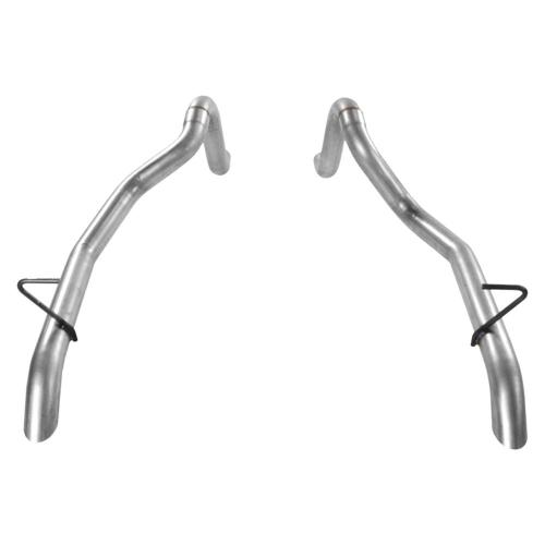 small resolution of 87 93 mustang gt prebent tailpipes 2 50 in rear exit pair