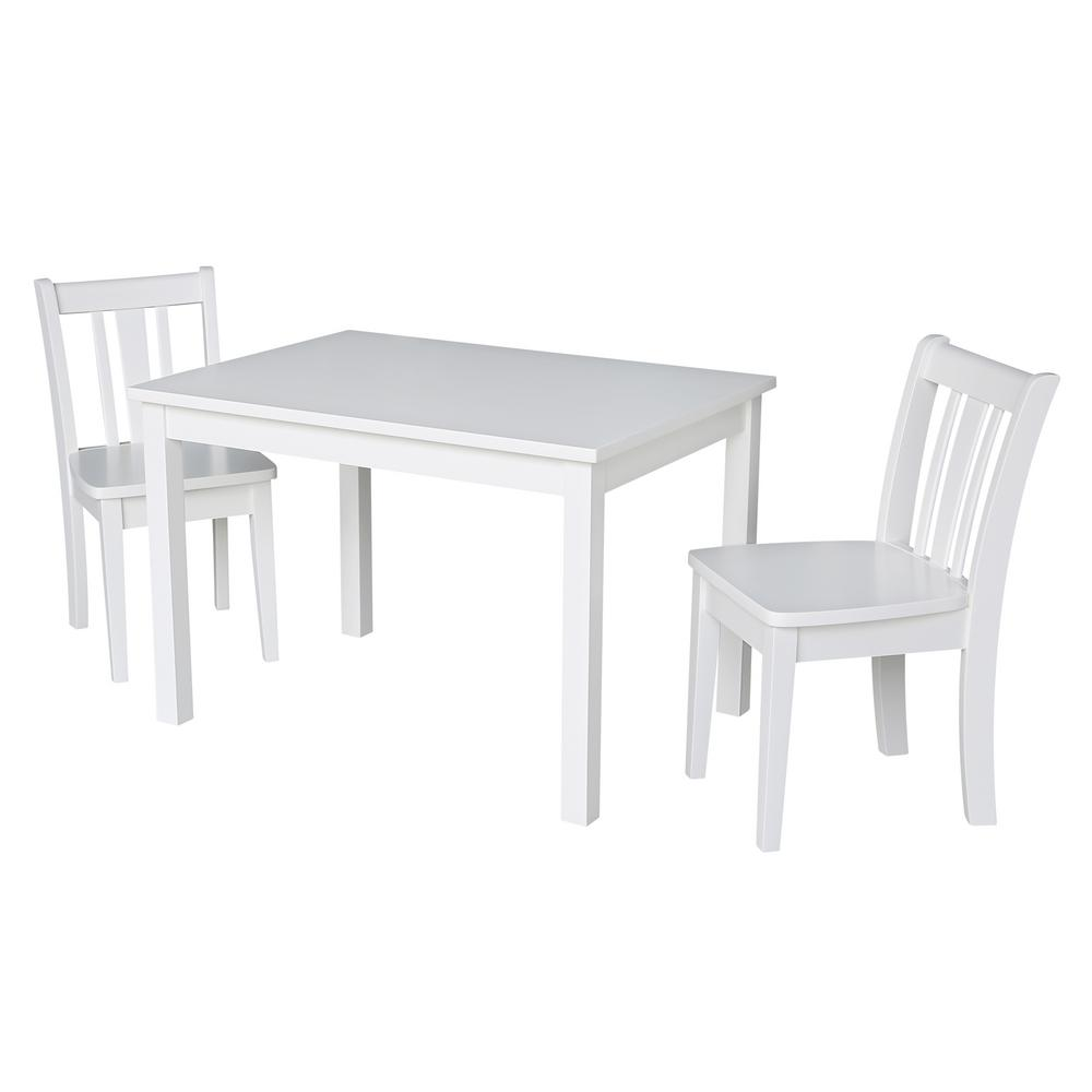 little kid table and chairs green dining room international concepts jorden white 3 piece s chair set
