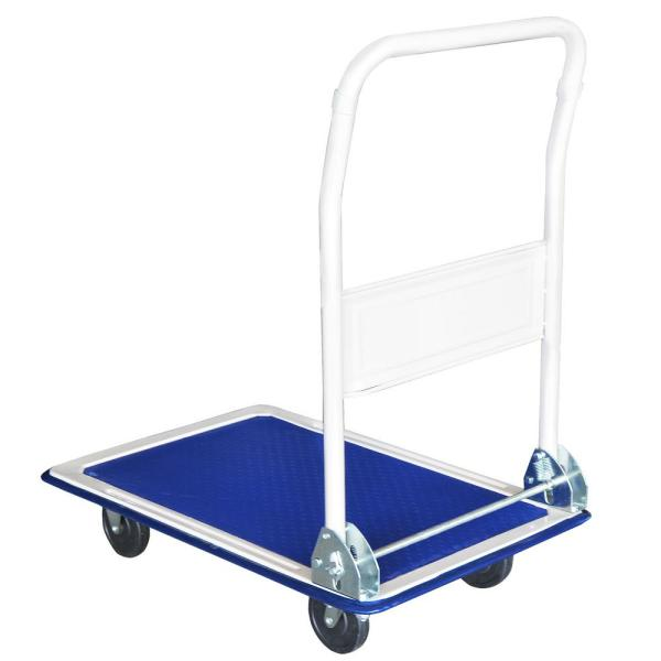 Steel Core 330 Lbs. Capacity Metal Folding Platform Cart And Dolly-42814 - Home Depot