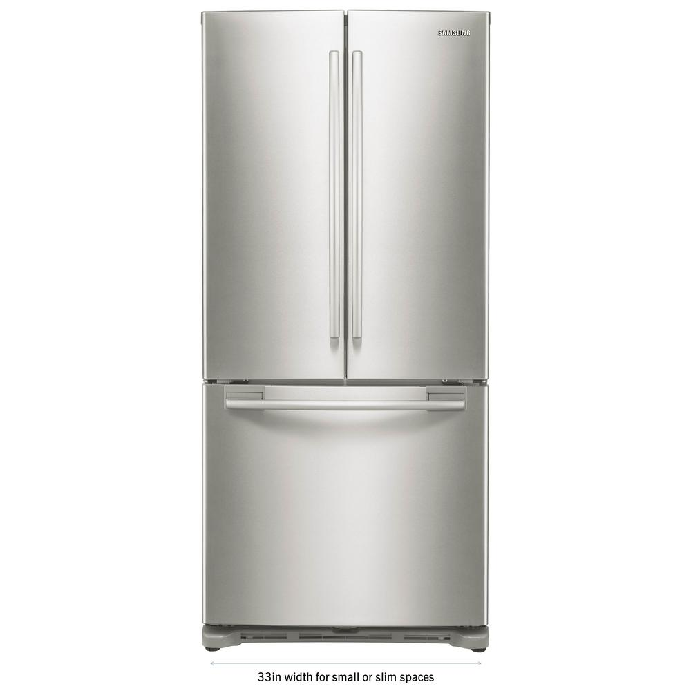 medium resolution of samsung 33 in w 17 5 cu ft french door refrigerator in stainless steel and counter depth