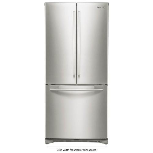 small resolution of samsung 33 in w 17 5 cu ft french door refrigerator in stainless steel and counter depth