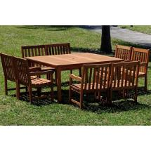 8 Seat Square Patio Dining Set