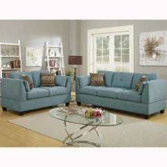 Sofa Bed Living Room Sets Bar Nailhead Trim Furniture The Home Abruzzo 2 Piece Hydra Blue Velvet Set