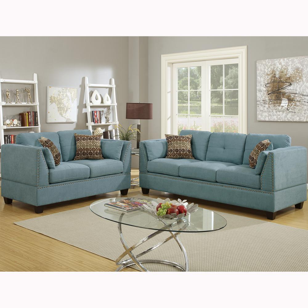 sofa set living room decor wooden floor sets furniture the home depot abruzzo