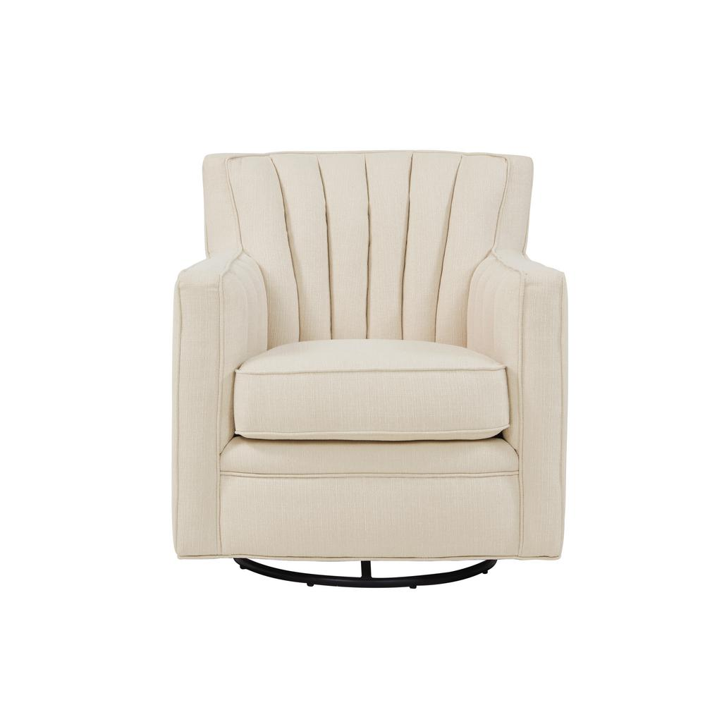 swivel arm chairs birthday chair cover party city handy living zahara oatmeal linen 340c lin81 252 the home depot
