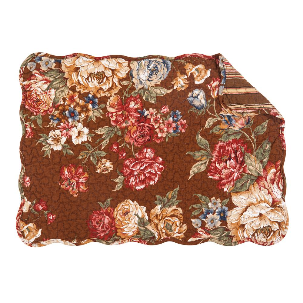 brown sophia quilted placemat