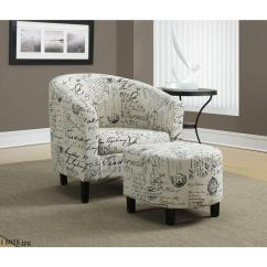 Black And White Accent Chairs With Arms B Cool Folding Quad Chair Monarch Specialties Arm Ottoman I 8058 The Home Depot