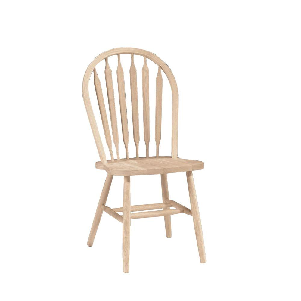 Kitchen Chairs Wood Unfinished Wood Arrow Back Windsor Dining Chair