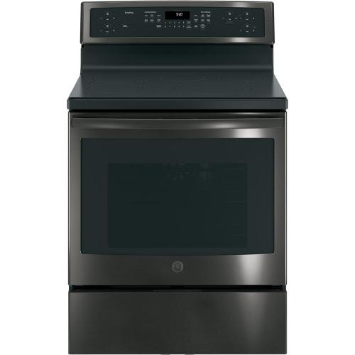 small resolution of free standing convection range with induction in black stainless