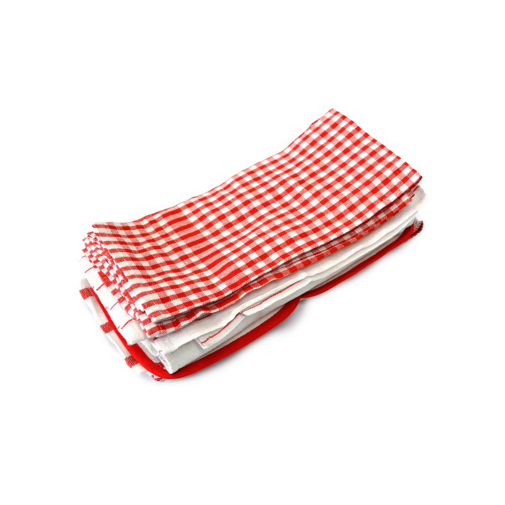 kitchen dish towels value city furniture tables home basics red utility towel set of 20 33004 the depot