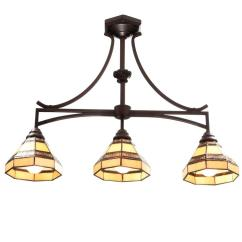 Kitchen Island Light Target Table Sets Hampton Bay Addison 3 Oil Rubbed Bronze With Tiffany Style Stained