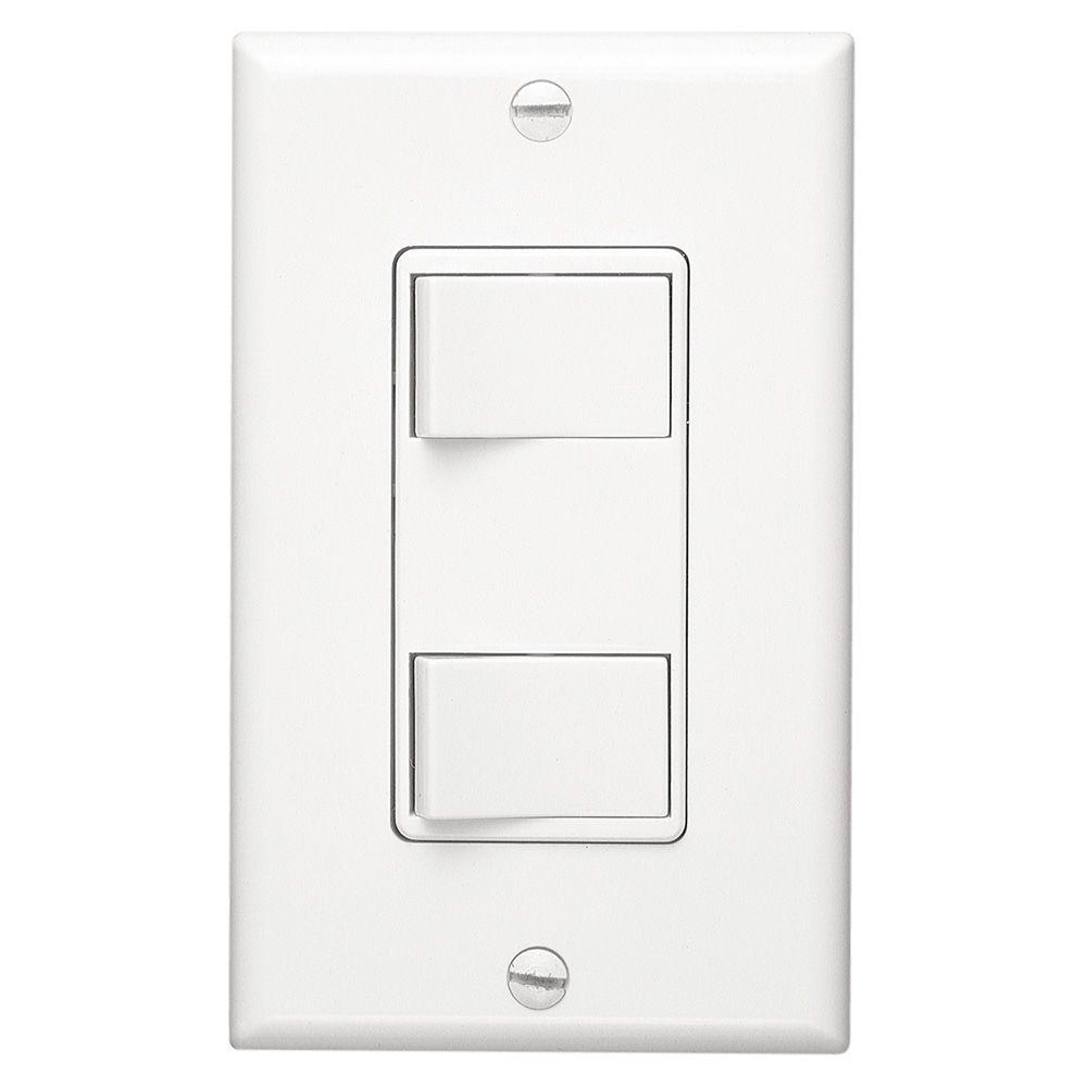 medium resolution of broan nutone white 2 function rocker switch wall control