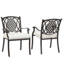 Black Metal Patio Chairs Mongolian Lamb Fur Chair Outdoor Dining The Home Depot Belcourt Custom