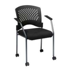 White Rolling Chair Office Gaming Chairs Home Furniture The Depot Coal Freeflex Visitor