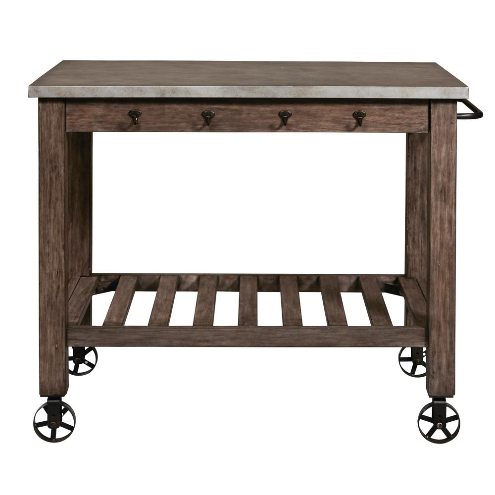 Right2Home Distressed Metal Wrapped Industrial Kitchen