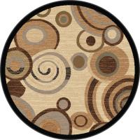 Tayse Rugs Festival Beige 5 ft. 3 in. Contemporary Round ...