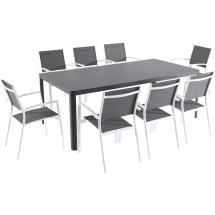 Hanover Fresno 9-piece Aluminum Outdoor Dining Set With 8