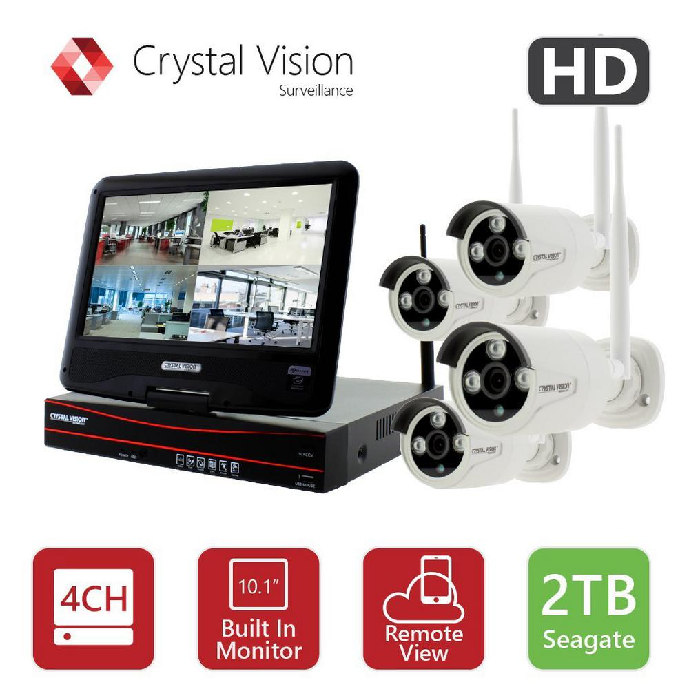 hight resolution of crystal vision 4 channel true hd 2tb hdd wireless cctv with 4 autopair weatherproof