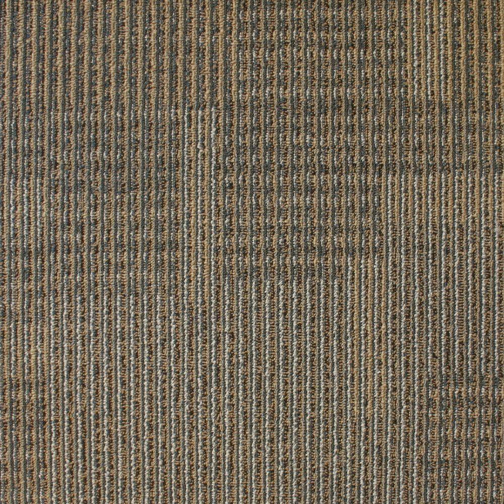 EuroTile Park Avenue Acorn Loop 19.7 in. x 19.7 in. Carpet