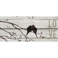 20 in. H x 8 in. W Love Birds Canvas Print Unframed Canvas