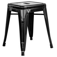 AmeriHome Loft Style 18 in. Black Stackable Metal Bar ...